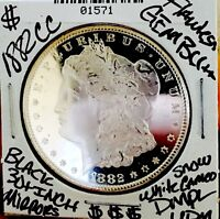 1882 CC MORGAN FLAWLESS GEM BU    AMAZING DMPL  BLACK MONSTE