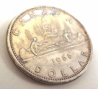 VINTAGE CANADIAN DOLLAR FROM CANADA DATED 1966   W20