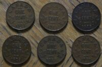 KEY DATE CANADIAN SMALL CENTS 6 TOTAL INCLUDING 1924/1925/19