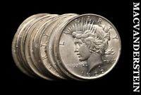 TWENTY COIN ROLL, MIXED PEACE DOLLARS- LUSTROUS  SILVER  BLK55