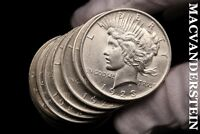 TWENTY COIN ROLL, MIXED PEACE DOLLARS- LUSTROUS  SILVER  BL37