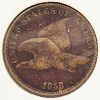 1858 LARGE LETTERS FLYING EAGLE ONE CENT   COIN