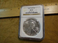 1986 UNITED STATES 1 OZ SILVER EAGLE DOLLAR $1 NGC MINT STATE 69 - FREE S&H USA
