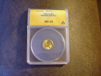 1915-S PANAMA-PACIFIC $1.00 GOLD COMMEMORATIVE MINT STATE 65 ANACS SHIPS FREE