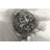 SPARTACUS GREAT COMMANDERS 2 OZ ANTIQUE FINISH SILVER COIN 5
