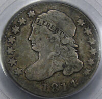 1814 CAPPED BUST DIME LARGE DATE PCGS FINE 12SO  AND 100 ORIGINAL