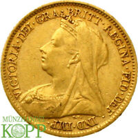 AA6254  GREAT BRITAIN 1/2 SOVEREIGN 1901 VICTORIA 1837 1901