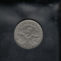 1925 CANADA NICKEL 5 CENTS
