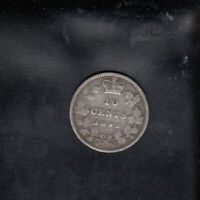 1892 CANADA SILVER 10 CENTS