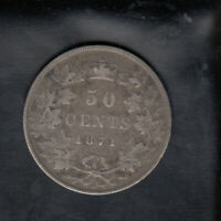 1871 H CANADA SILVER 50 CENTS