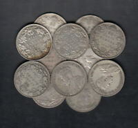 1911 36 CANADA 25 CENTS SILVER COINS LOT OF 12