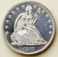 1877 S SEATED LIBERTY HALF CHOICE BU    ULTRA PROOF LIKE  AM