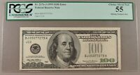 1999 FR. 2176 J $100 MISSING TREASURY SEAL ERROR PCGS CHOICE