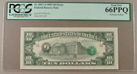 1985 FR. 2027 J $10 FRN OVERPRINT ON BACK ERROR PCGS GEM NEW