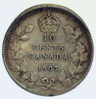 1907 CANADA 10 CUPPED THICK RIM