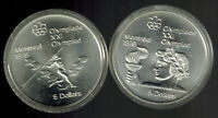 TWO $5.00 1976 OLYMPIC COINS   48.6 GRAMS STERLING SILVER