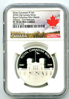 2018 23G CANADA ROYAL CANADIAN MINT OTTAWA SILVER PROOF NGC