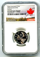 2018 CANADA 25 CENT SILVER COLORED PROOF NGC PF70 UCAM QUART