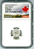 2019 $1 CANADA 1/20OZ NGC PF70 SILVER MAPLE LEAF QUEEN VICTO