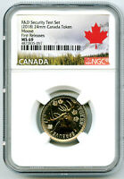 2018 CANADA 25 CENT MOOSE NGC MS69 TEST TOKEN FR FROM R & D