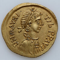 BYZANTINE COIN GOLD TREMISIS MAURICE TIBERIUS 582 602 AD CONSTANTINOPLE