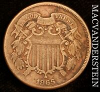 1865 TWO CENT      FINE    F2418