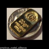 20 GRAIN GR PURE 999 FINE JUMBO 24K GOLD BULLION CERTIFIED B