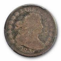 1805 10C 5 BERRIES DRAPED BUST DIME PCGS G 4 GOOD TOUGH US TYPE COIN