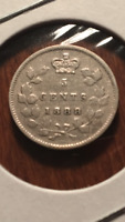 1888 CANADA SILVER FIVE CENTS   YEAR FEATURED IN CCN