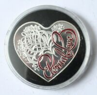AUSTRALIA HEART SHAPED ETERNAL LOVE 5 DOLLARS 2015 PROOF IN