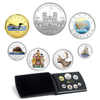 2018 FINE SILVER COLOURISED CLASSIC CANADIAN COIN SET PROOF