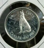 50 CENTS CANADA 1867 1967 SILVER 50 CENTS