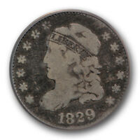 1829 CAPPED BUST HALF DIME PCGS F 12 FINE LM 10 R 5 RARITY VARIETY