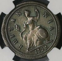 1721/0 NGC VF 1/2 PENNY GEORGE I GREAT BRITAIN OVERDATE  COIN  18091003CZ