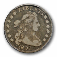 1807 10C DRAPED BUST DIME PCGS VF 20  FINE CAC APPROVED ORIGINAL TONED