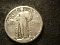 1923-S VG F SOLID FULL SHIELD STANDING LIBERTY QUARTER  READABLE 3 DATE