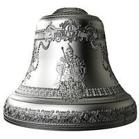 NIUE 2017 10$ TSAR BELL 4 OZ 3D BELL SHAPED ANTIQUE FINISH S