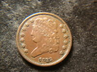 1832 VF EXTRA FINE  SOLID CLASSIC HEAD HALF CENT  LOW MINTAGE  DATE NEX