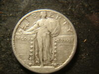 1924-S F VF READABLE DATE STANDING LIBERTY QUARTER  SHIELD ELP