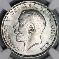 1913 NGC MS 64 1/2 CROWN GEORGE V GREAT BRITAIN SILVER COIN  18091610C