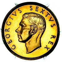 1952 KING GEORGE VI SOUTH AFRICA GOLD PROOF SOVEREIGN POUND