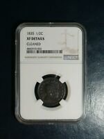 1835 CLASSIC HEAD HALF CENT NGC EXTRA FINE  1/2C PENNY COIN PRICED TO SELL NOW