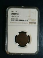1871 TWO CENT PIECE NGC  FINE 2C COIN PRICED TO SELL NOW