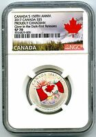 2017 CANADA $5 150TH PROUDLY CANADIAN SILVER NGC SP70 GLOW I