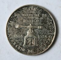 MEXICO MEXICO MINT 1536 1936 JUBILEE MEDAL SILVER  25 G