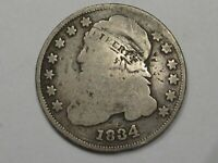 1834 US CAPPED BUST DIME SLIGHTLY BENT.  33