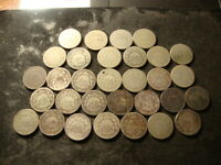 1866 1867 1868 1869 SHIELD NICKELS 31 COINS MOST DATED