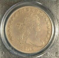 1802 DRAPED BUST SILVER DOLLAR  PCGS EXTRA FINE  40  COIN