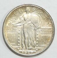 1917-S TY-1 STANDING LIBERTY QUARTER ALMOST UNCIRCULATED SILVER 25C