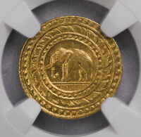 NGC MS63 1863 THAILAND 4BAHT GOLD